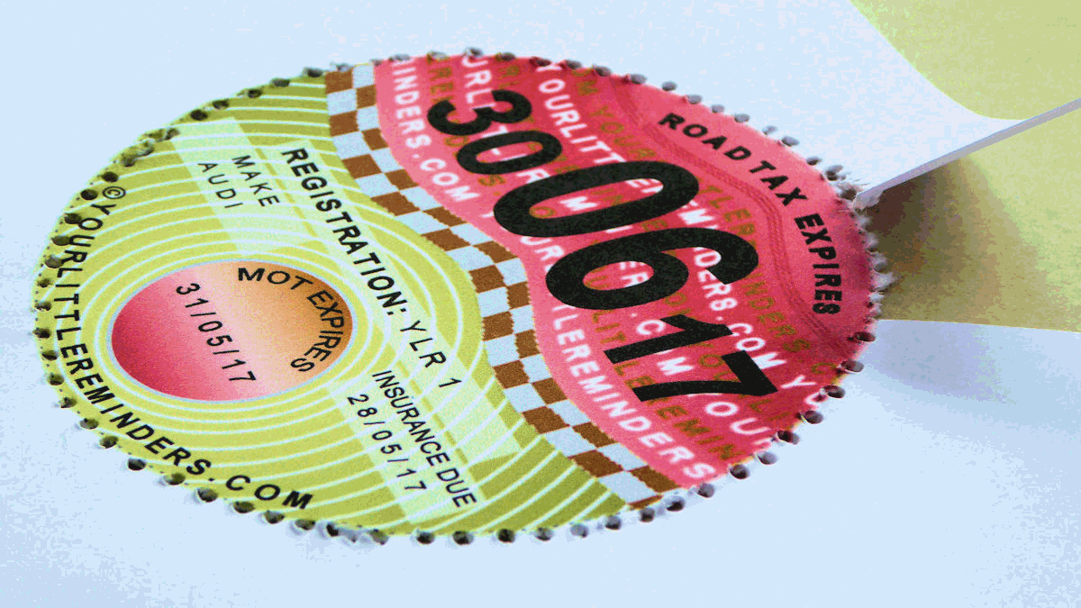 Your Little Reminders Perforated Car Road Tax Reminder