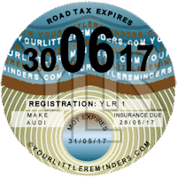 Nostalgic Blue Car Vehicle Road Tax Disc Reminder PYLR001