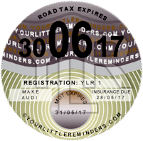 Nostalgic Purple Car Road Tax Disc Reminder PYLR003