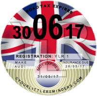 Union Jack Car Road Tax Disc Reminder PYLR004