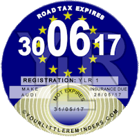 European Union Flag Car Road Tax Disc Reminder PYLR008