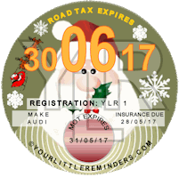 Christmas Car Road Tax Disc Reminder PYLR013