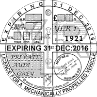 Retro 1921 Car Road Tax Disc Reminder PYLR021