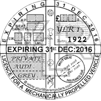 Retro 1922 Car Road Tax Disc Reminder PYLR022