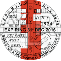 Retro 1924 Car Road Tax Disc Reminder PYLR024