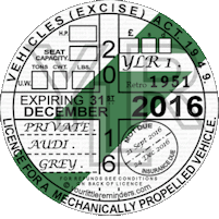 Retro 1951 Car Road Tax Disc Reminder PYLR051