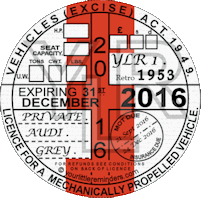 Retro 1953 Car Road Tax Disc Reminder PYLR053