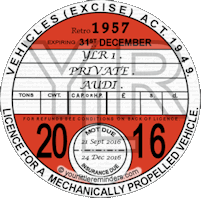 Retro 1957 Car Road Tax Disc Reminder PYLR057