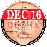 Retro 1976 Car Road Tax Disc Reminder PYLR076