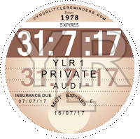 Retro 1978 Car Road Tax Disc Reminder PYLR078