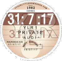 Retro 1982 Car Road Tax Disc Reminder PYLR082