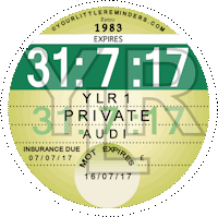 Retro 1983 Car Road Tax Disc Reminder PYLR083
