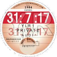 Retro 1984 Car Road Tax Disc Reminder PYLR084
