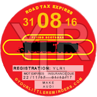Flying Scotsman Car Vehicle Road Tax Disc Reminder PYLR171